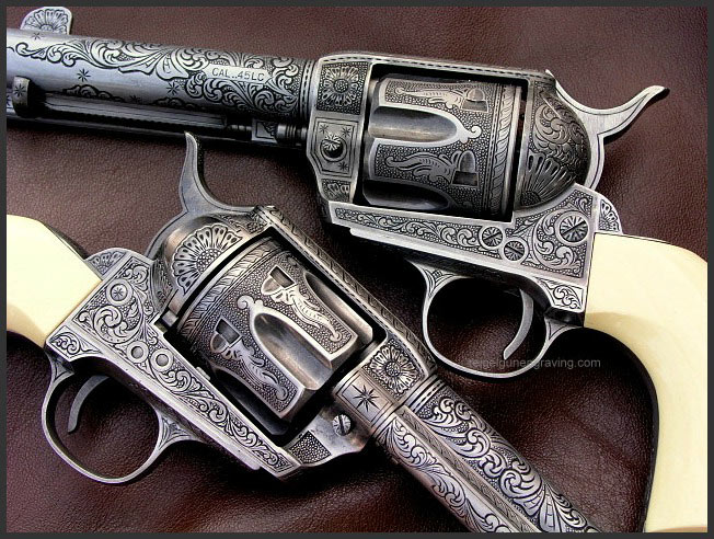 Great Western II Colt 1873 Model reigelgunengraving