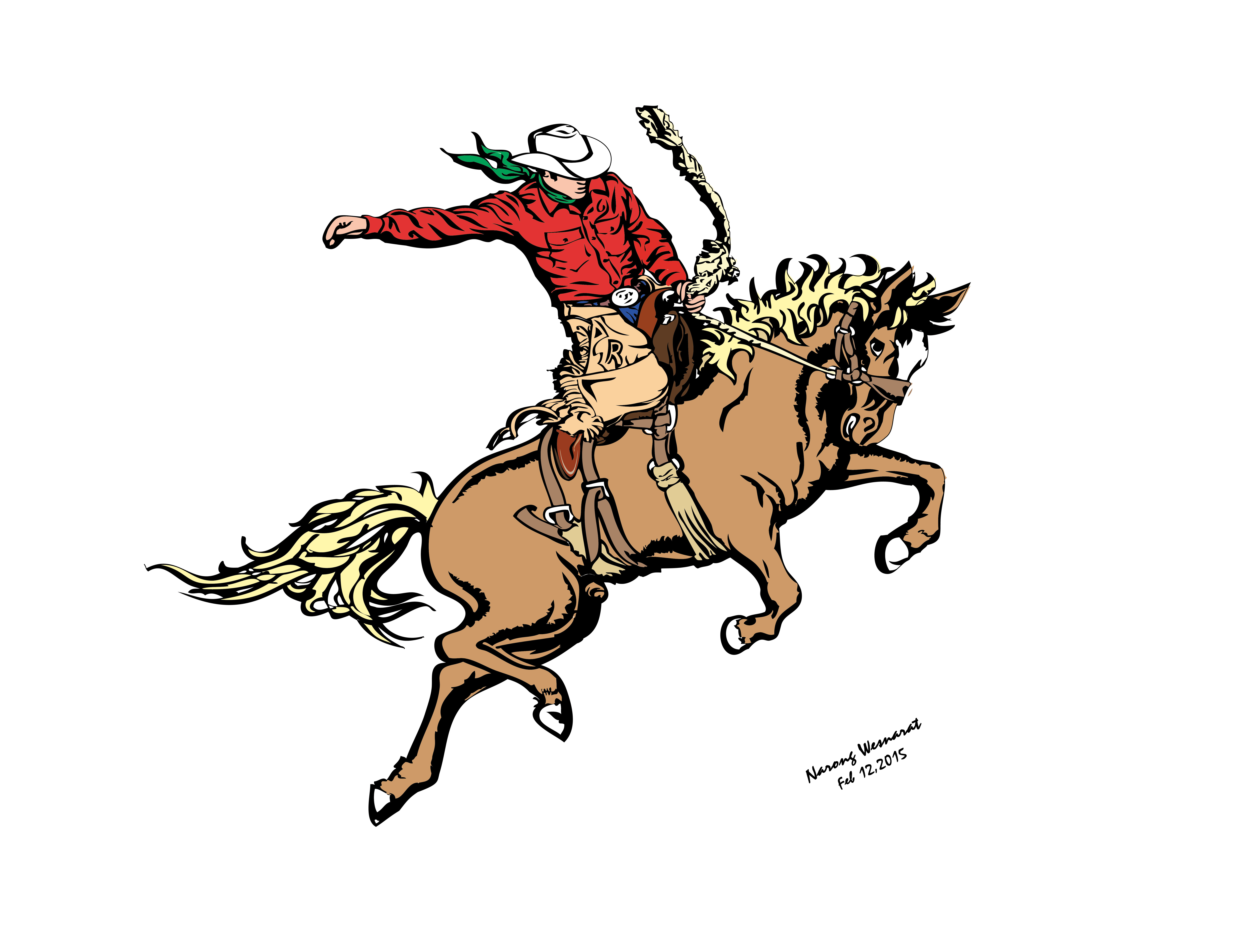 4 RedShirt SaddleBronc Action10 2015a