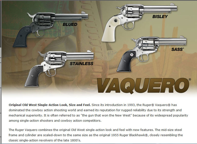 RugerVaquero-description