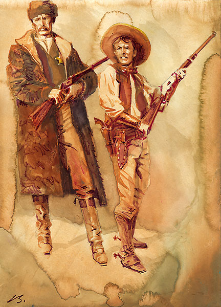 bob boze bell study brothers in arms pat garrett and billy the kid