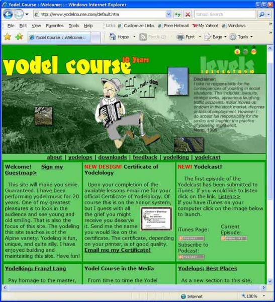 YodelCourse homepage