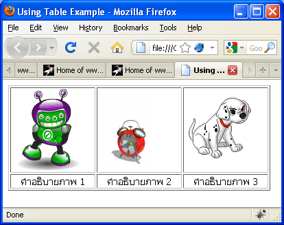 UsingTableExample